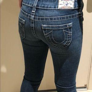 Straight legged True Religion comfy jeans